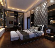 all idea inspiration design interior and exterior home modern decor Bedroom False Ceiling Design, Master Bedroom Design, Modern Bedroom, Bed Frame Design, Hotel Room Design, Bedroom Furniture Design, Suites, Luxurious Bedrooms, Interior Design Living Room