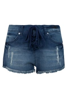 Short Jeans Billabong Girls Boy Amarração Azul e3d0845ce12
