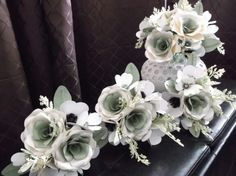 Custom wedding order, two toned roses and dogwood blossoms. Shop more at https://squareup.com/store/azilorchids