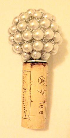 Glam Wine Bottle Stopper by RecorkAndUnwined on Etsy, $12.00