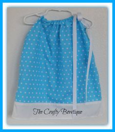 Spring Easter Blue & White Pillowcase Dress by TandRCraftyBowtique, $15.00  LIKE our Facebook page and never miss out on a GIVEAWAY, Facebook only deals and events! https://www.facebook.com/craftycreations