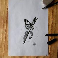 Resultado de imagem para lagarta casulo borboleta tattoo
