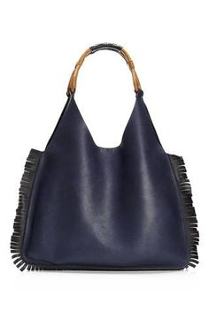 Fringed Leather Shopping Bag by Marni Now Available on Moda Operandi