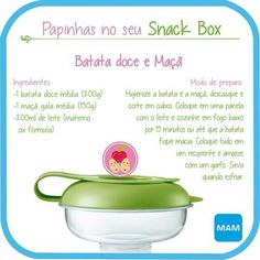 Papinha batata doce e maça Kids And Parenting, Baby Food Recipes, Baby Love, Kids Meals, Baby Kids, Food And Drink, Low Carb, Cooking, Tableware