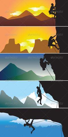 Rock Climbing Silhoutte - Sports/Activity Conceptual