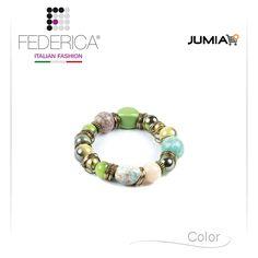 Bracelet EBE 1  Stretch bracelet with ceramic pearls. 1.400,00 Ksh http://www.federicafashion.com/it/ep88/bracelet-ebe-1/ http://www.jumia.co.ke/federica-fashion/