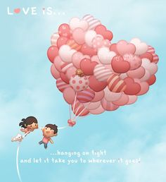 I've always wanted to draw balloons, lots of heart balloons! There're so many things that we can't control in life, and I find it's best to just to try your best and go with the flow, and let it take you to wherever it goes!