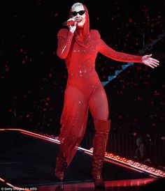 She shot to number one on the charts when her album Witness dropped in June. And Katy Perry was red hot while on stage for the first show of her world tour in Montreal, Quebec Tuesday. Katy Perry Albums, Futuristic Sunglasses, Katy Perry Hot, Katy Perry Pictures, Grey Bikini, Carly Rae Jepsen, Red Bodysuit, Good For Her, Young Female