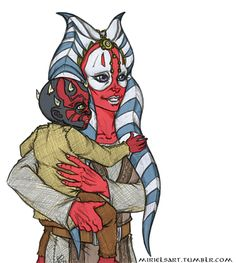 I think we can all agree that one of the things Maul missed most in his life was a loving parental figure. So have a AU in which Maul is found by the Jedi instead of Palpy and grows up happy and cared for as Shaak Ti's Padawan (because she's the...