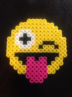 Emoji pattern perler bead