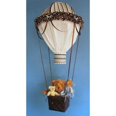 Chocolate Blue and White Stripe Hot Air Balloon by BumperBabies, $125.00