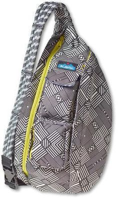 KAVU Rope Sling Bag Sling this roomy teardrop-style bag over your shoulder and you can go almost anywhere. The only issue is deciding which color or pattern to get.