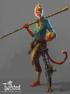 ArtStation - Steampunk Monkey King , Nicolas Amoroso