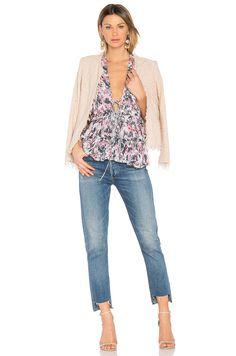 IRO Shavani Jacket in Pink Sand | REVOLVE