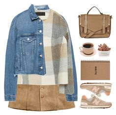 """Untitled #1371"" by timeak ❤ liked on Polyvore featuring H&M, Zara, New Balance and Topshop"