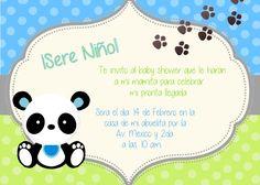Invitacion shower niño panda Tarjetas Baby Shower Niña, Panda Baby Showers, Baby Shower Niño, Baby Shower Decorations, Christening, Makeup, Invitations, Baby Boys, Party