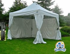 Undercover 10 x 10 Commercial Aluminum Popup Shade Canopy Package with Polyester Sidewalls
