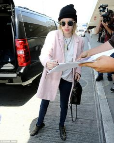 Jet-setting: The Palo Alto star was seen catching a flight out of LAX to New York on Frida...