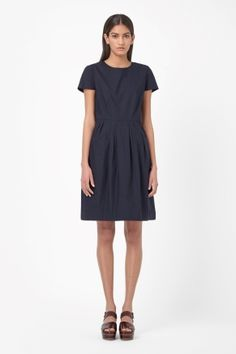 Cotton pleated dress