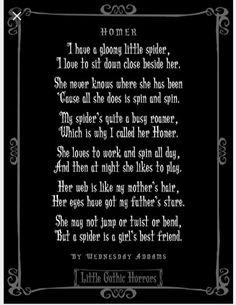 Poem By Wednsday Addams Homer