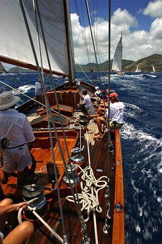 Roddy Grimes-Graeme photography in Antigua Classic Yacht Regatta
