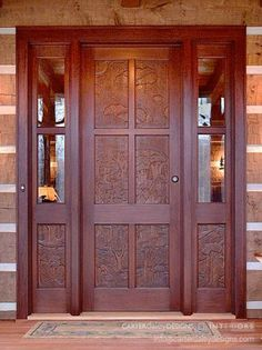 Hand carved mahogany front door