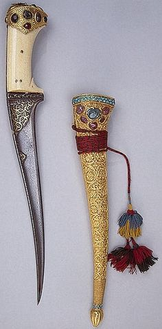 Pesh kabz, a development of the straight bladed karud, a re-curving blade and slightly down curving handle. With its good solid grip, perfect balance in the hand and its blade curvature naturally extending the hand moving forward, makes the best armor piercing dagger ever to be developed, for this reason it was adopted by warriors of a vast area, from Central Asia through Persia, Afghanistan, Pakistan and India.