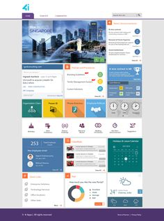 Behance is the world's largest creative network for showcasing and discovering creative work Sharepoint Design, Sharepoint Intranet, Intranet Design, Ui Design, Layout Design, Website Design Inspiration, Web Design Inspiration, Intranet Portal, Enterprise Portal