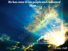 luke 1 68 he has come to his people powerpoint church sermon Slide01  http://www.slideteam.net/