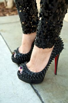 Christian Louboutin spiked shoes