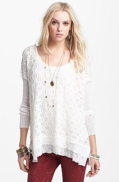 Free People Textured Pullover available at #Nordstrom $128