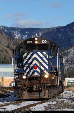 RailPictures.Net Photo: MRL109 Montana Rail Link EMD GP9 at Thompson Falls , Montana by Jason Cary