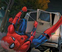 peter parker and his homework Miles Spiderman, Spiderman Art, Amazing Spiderman, Marvel Comic Character, Comic Book Characters, Marvel Art, Marvel Comics, Black Spider, New Avengers