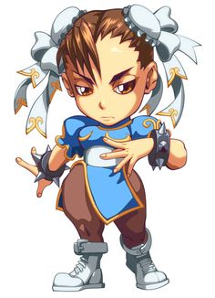 View an image titled 'Chun-Li Alt Color Art' in our Super Puzzle Fighter II Turbo HD Remix art gallery featuring official character designs, concept art, and promo pictures. Ryu Street Fighter, Super Street Fighter 2, Street Fighter Characters, Graffiti Characters, Chibi Characters, Fictional Characters, Chibi Games, Manga Anime, Spiderman Art