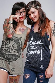 Cute girls with tattoo's #grunge