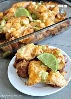 Buffalo Chicken Casserole www.thenymelrosefamily.com #casserole #buffalo_chicken #chicken_recipe