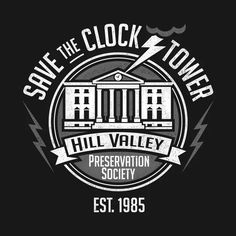 SAVE THE CLOCK TOWER T-Shirt - Back to the Future T-Shirt is $11 today at TeeFury!