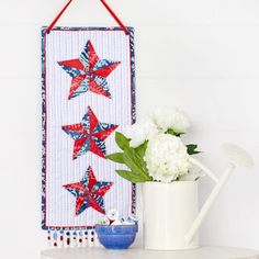 Coats & Clark Dual Duty Plus Hand Quilting thread adds an accent to the pieced stars.