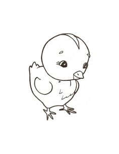Chick Coloring Pages 9