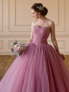 Cinderella & Co. (シンデレラ・アンド・コー) ピンクグレイの大人の愛らしいカラードレスSS5982PGR