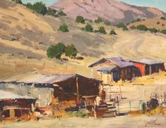 Artist: Walt Gonske - Title: High Desert Ranch