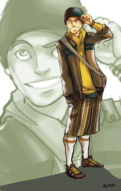 Modern Aang by ~asherluck on deviantART