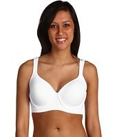 Get in shape girl! Bra boasts the smooth appearance of a t-shirt bra from work to work out. Breathable stretch cotton has wicking finish. Molded underwire contour cups support and stabilize the breast tissue.  Double-cushioned underwire elevates comfort and prevents poke through.  Sports mesh lines the center gore, front band, and wings. Shoulder straps are detachable in back to wear crisscross during high-impact activities and regular during medium impact.  Straps padded for comfort. sports-bra