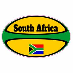 South Africa Rugby Ball Sticker Custom Decals, Custom Stickers, Go Bokke, South African Rugby, Rugby World Cup, Stickers Online, My Land, Afrikaans, Birthday Bash