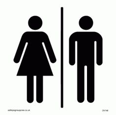 (1) signs | Tumblr - scroll down to see all the bathroom signs!