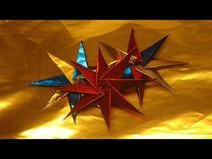 Stern basteln 3D Sterne aus Bastelfolie selber machen | flora-shop.eu