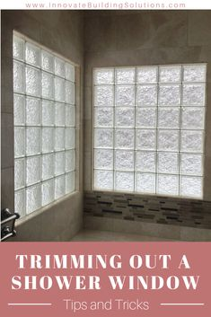 Here are the tips and tricks you need to know when dealing with a window in your shower! Check it out Shower Remodel, Bath Remodel, Glass Block Shower, Innovation, Glass Block Windows, Window In Shower, Basement Remodeling, Bathroom Remodeling, Remodeling Ideas