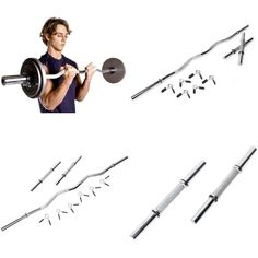 Workout Training Curl Bar Dumbbell Set Home Gym Fitness Exercise Weight Lifting