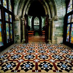 Victorian Tile Church Floor