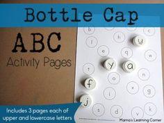 Bottle Cap ABC Matching Pages